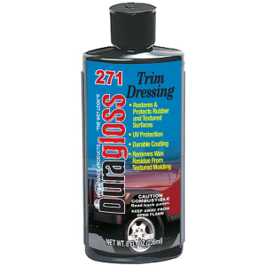 8 oz. - Duragloss RBD (Rubber & Flat Black Dressing)